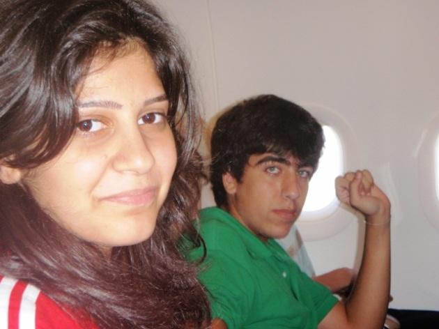 Rita et Wissam en avion
