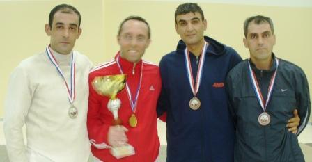 Mohamad Ali Ahmad (2ème), Fadi Tannous (1er), Tarek Méhanna et Victor Fayad (3èmes ex aequo)
