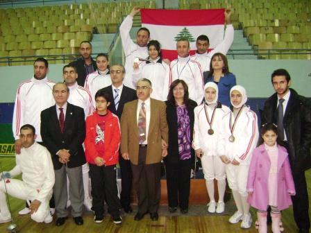 La délégation libanaise au grand complet