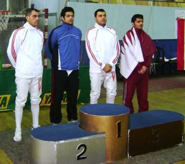 Podium de la finale épée (Liban 2è et 3è places)