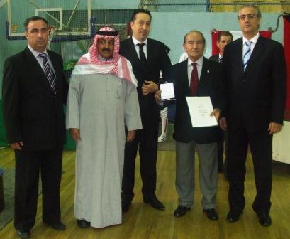 Maître Souhail Saad honoré par la FIE - Damas - décembre 2009