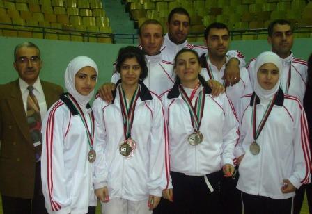 L'équipe féminine victorieuse - Damas - décembre 2009