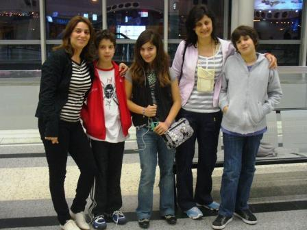 Sahar, Ramy, Sama, Marie Jo et Rami