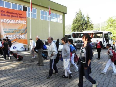 Arrivée de la délégation libanaise au stade