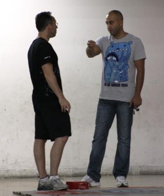 Fadi Tannous et Ziad Jalbout, les deux arbitres de la rencontre