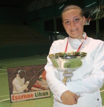 Joelle ZAKHER, championne du Liban 2010 de la catégorie fleuret féminin senior