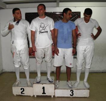 Raëd Bou Karroum argent, Fdi Tannous or, Mahmoud Ali Ahmad et Tarek Méhanna bronze