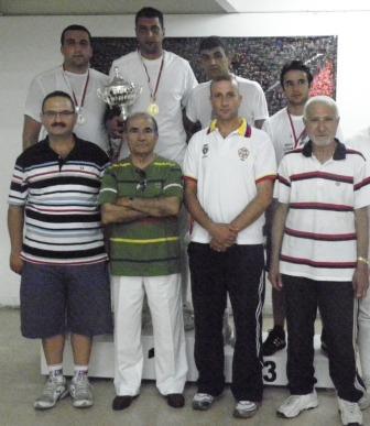 Podium du championnat du Liban de sabre senior 2010