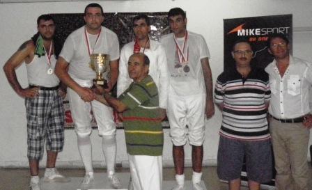 Podium du championnat du Liban d'épée 2010