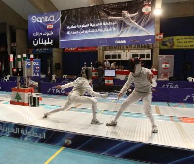 Finale Fleuret Feminin Cadet opposant : Wasfi (EGY) et Alkawari (QTR)