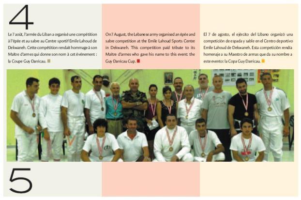 Coupe Guy Daricau, article dans le revue Escrime XXI