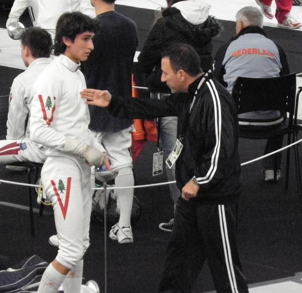 Alessandro Michon et Maître Simoni aux championnats du monde - Paris 2010