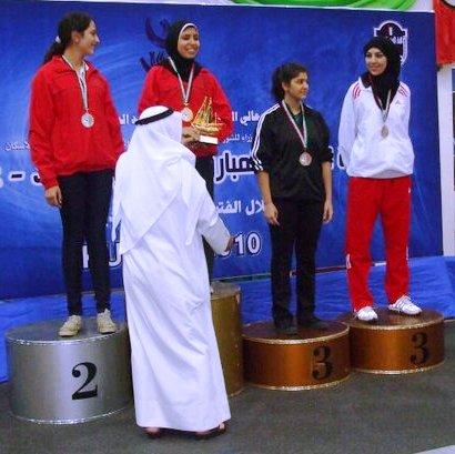 Rita Abou Jaoudé - Championnat Arabe Senior 2011 - Médaille de bronze à l'épée