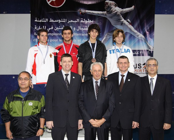 Podium Épée Masuline Junior