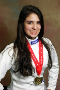 Dominique Tannous, Gold Medalist at the North American Cup - Portland, Oregon - USA