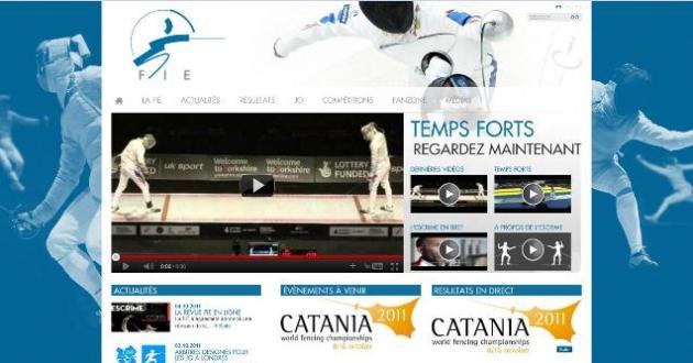 Page d'accueil du nouveau site Web de la FIE