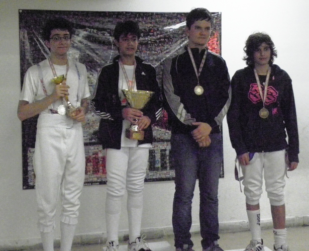 Podium Fleuret Masculin Cadet 2011