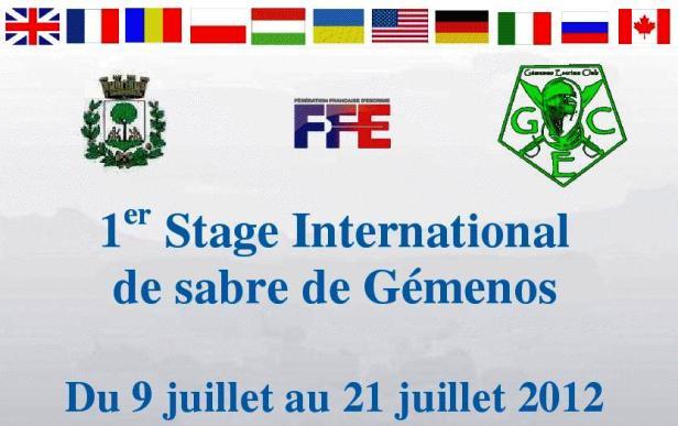 Stage de Sabre à  Gémenos - France