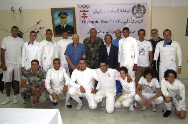Fadi tannous (debout, 1er à partir de la droite)