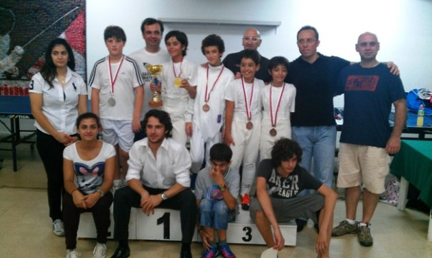 Podium - Fleuret U11 - juillet 2012 - Mont La Salle