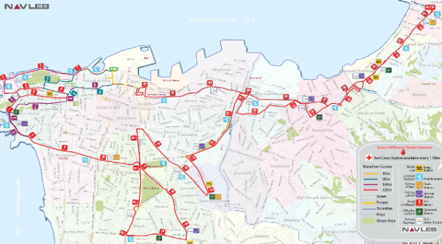 Beirut Marathon 2012 map