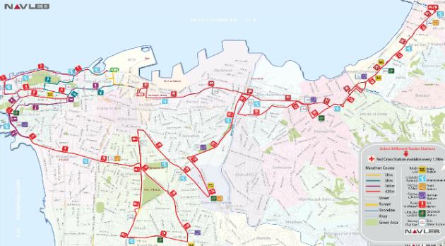 Beirut Marathon 2012 map