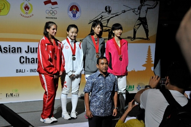 Dominique TANNOUS(LIB - Argent), Ka Mong CHU (HKG - Or), Minhee LEE (KOR - Bronze) Yeonji PARK (KOR - Bronze)