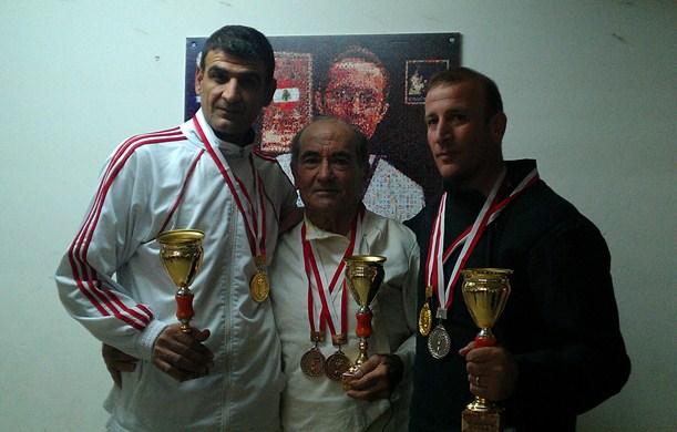 Tarek Mehanna, Souhail Saad et Bahij Charanek - Championnat du Liban des vétérans 2012
