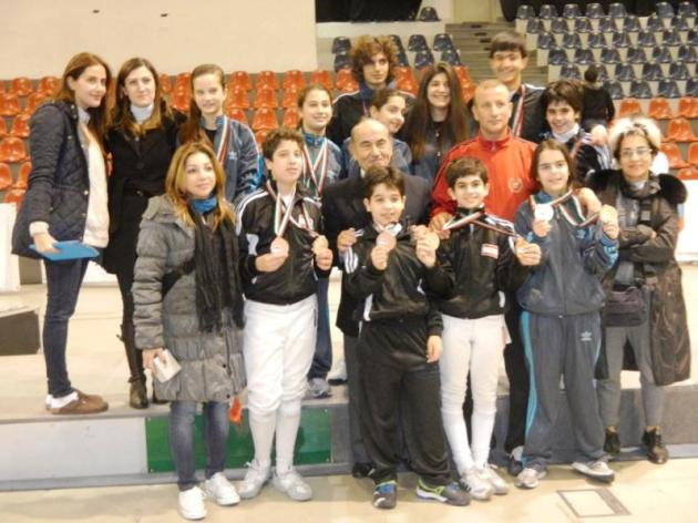 Les médaillés du championnat d'escrime U11 U13 U15 - Amman - Jordanie