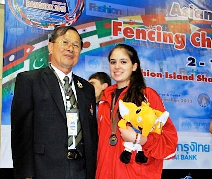 Dominique TANNOUS médaille d'argent aux championnats d'Asie cadets - épée