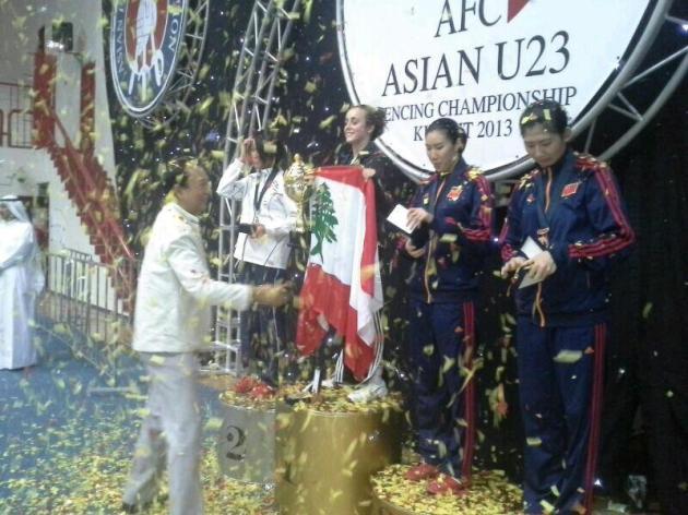 Mona Shaito - Gold Medalist - AFC U23 - 2013 - Kuwait