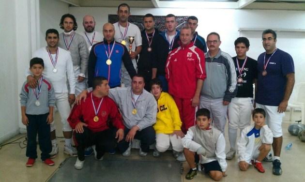 Podium du Championnat du Liban de Sabre masculin par équipes - 19 octobre 2013