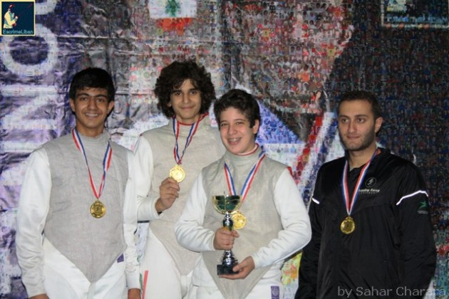 Championnat du Liban 2013 de fleuret senior par équipes - Anthony CHOUÉRI, Rami GHORRA, Ramy BEYDOUN et Nadim EL RAMI