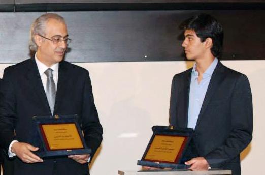 Le président de la Fédération Libanaise d'Escrime Ziad Chouéri et Anthony Chouéri