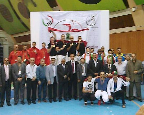 L'équipe de l'Armée Libanaise sur la plus haute marche du podium