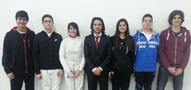 Délégation libanaise au championnat d'asie cadets et  juniors 2014 : Anthony Chouéiri, Rami Bassil, Jasmine Farhat, Imad Nahas, Rita Aboujaoudé, Ramy Beydoun et Rami Ghorra