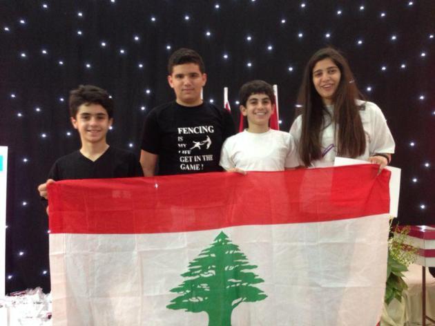 Tarek Daccache, Antoine Oneissi, Gio Daou et Rita Abou Jaoudé - Coupe Al Ayoub - Koweït