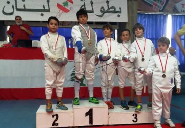 Championnat du Liban de fleuret masculin U12 - 2014