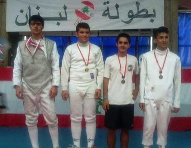 Championnat du Liban de fleuret masculin U16 - 2014
