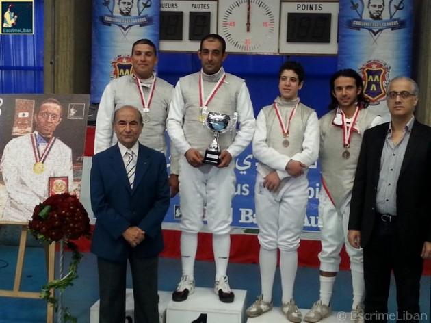 Championnat du Liban de Fleuret Senior Hommes 2014